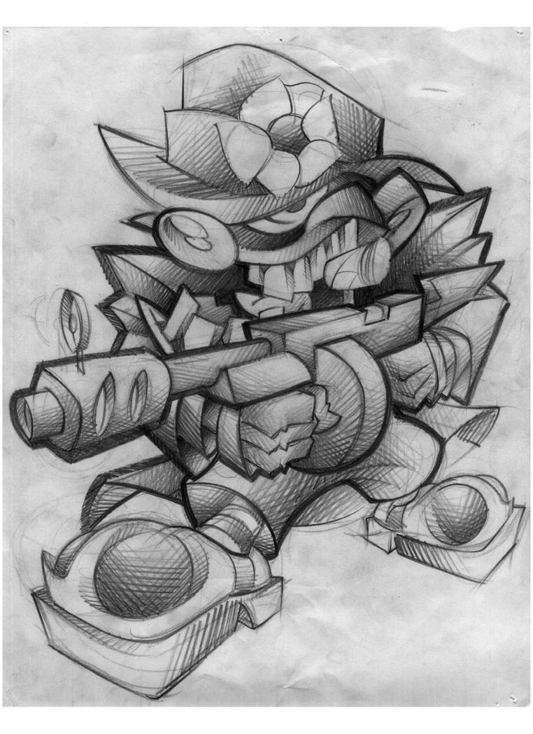 Gangster Clown Tattoo Drawings