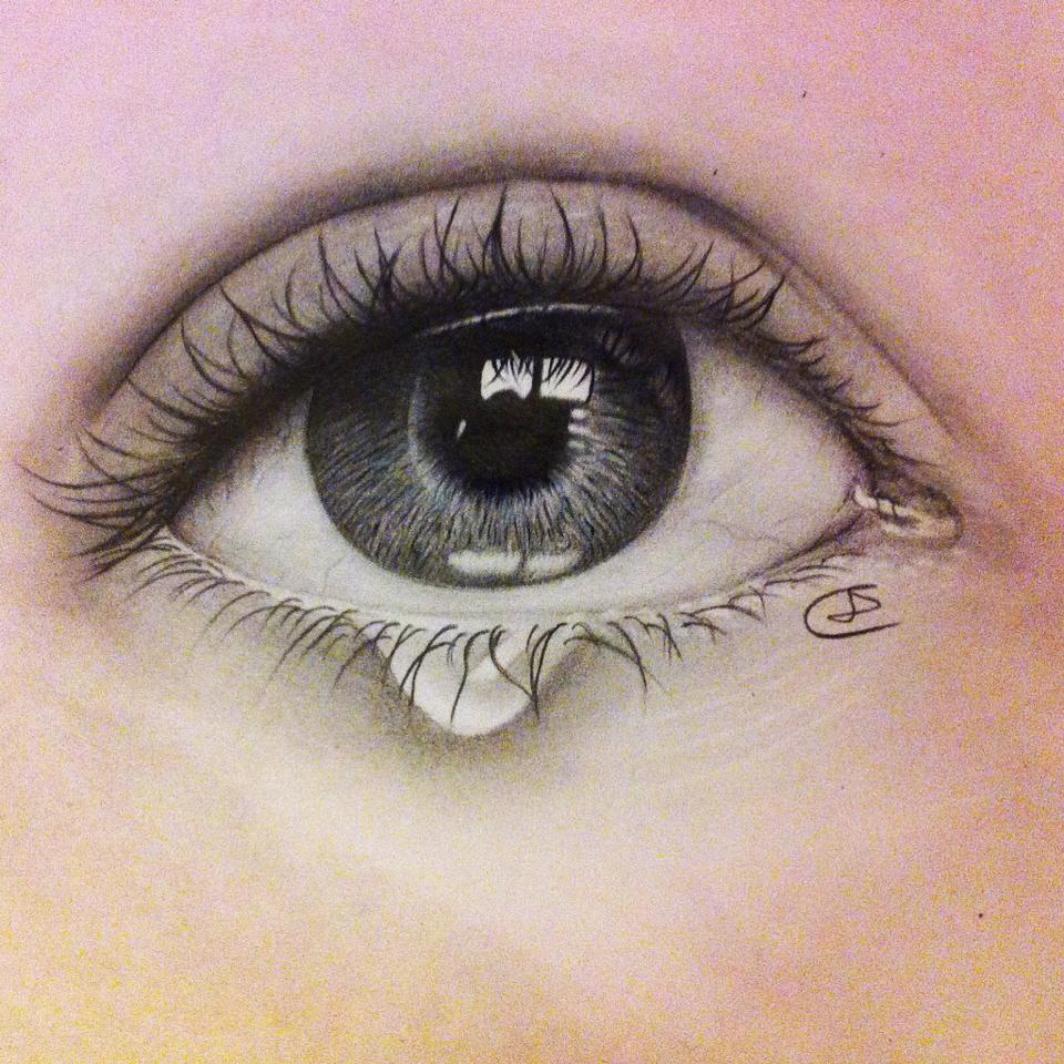 drawings of eyes with teardrop - DriverLayer Search Engine