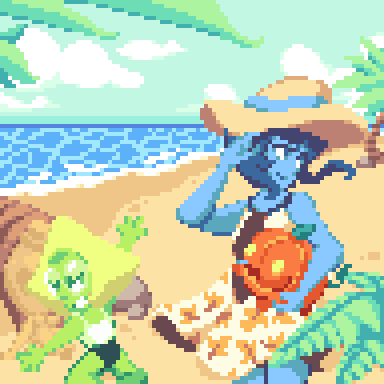 A 96x96 training piece! I miss the beach, don't you guys too? Also, do you think this is going to be a mess if pumpkin jumps off her arms? Haha