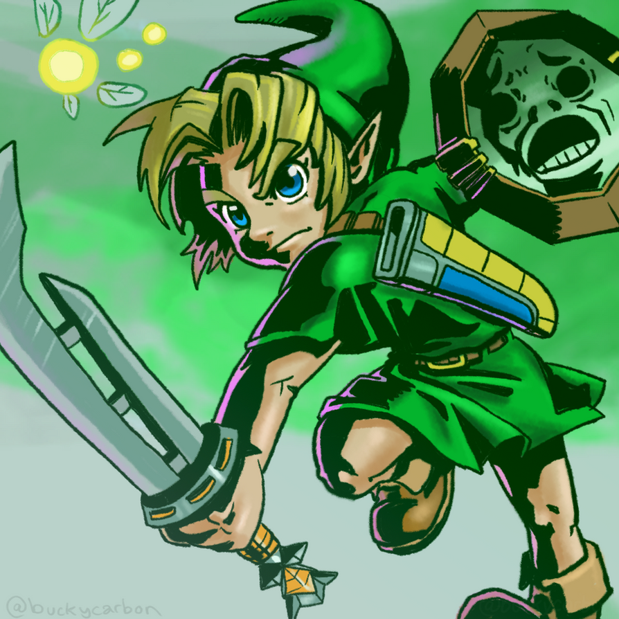 #ZeldaChallenge - Link - Majora's Mask by InAmberClad