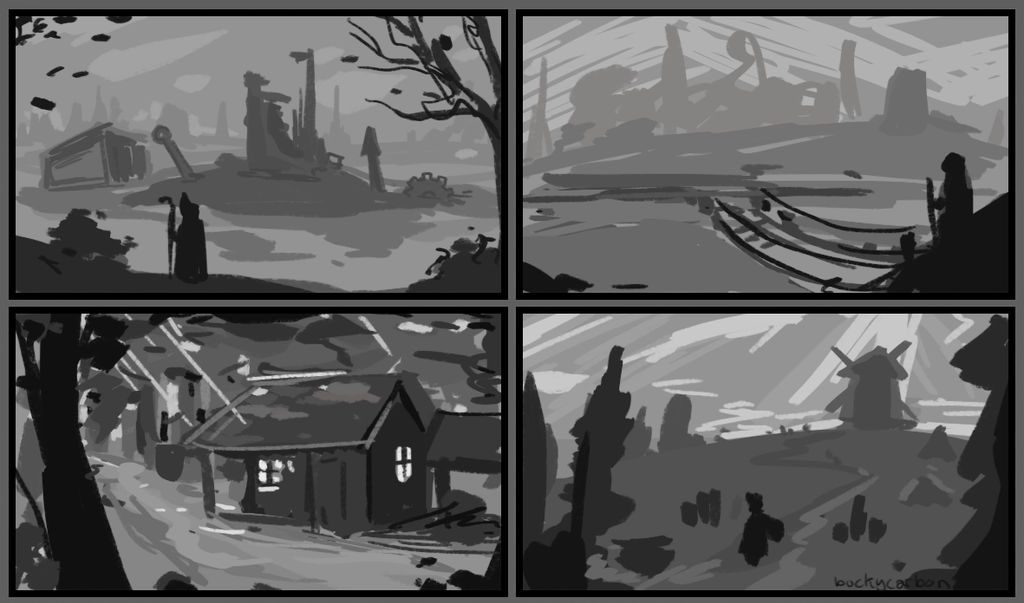 Tonal Thumbnails Practice 01 by InAmberClad