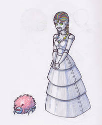 Robo Princess and Cute Spider by Mellish