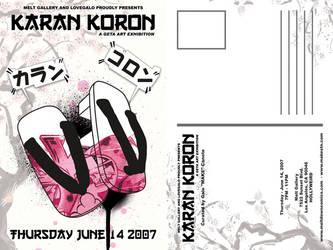 KARAN KORON POSTCARD by Dyal