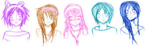 HPRP Girls Sketches by IvyDevi