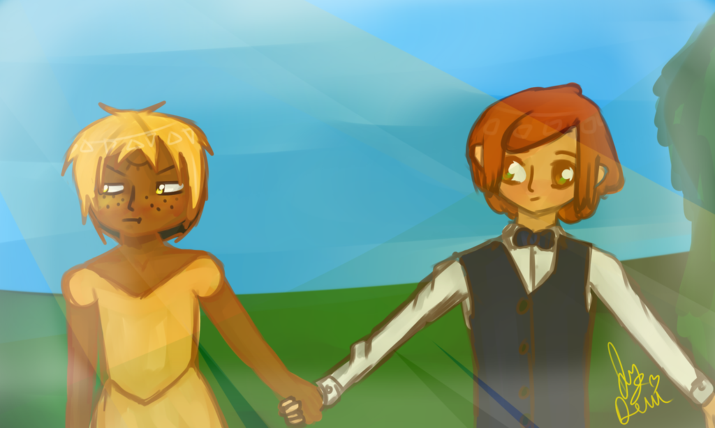 OTP Challenge Day 1 (RP Edition) Holding Hands by IvyDevi