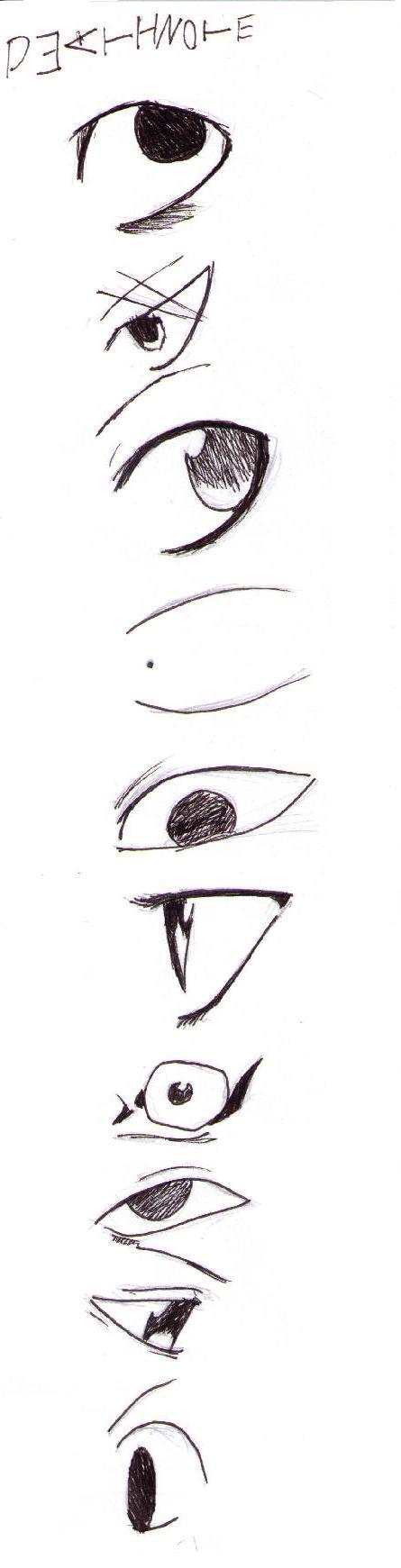 10 ways draw Death Note eyes