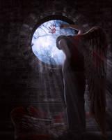 Broken Dark Angel by KarinClaessonArt