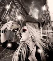 Black Metal Barbie by KarinClaessonArt