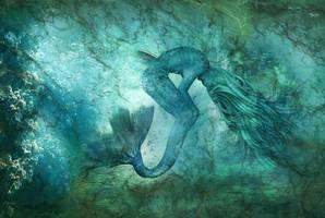Birth of a Mermaid by KarinClaessonArt