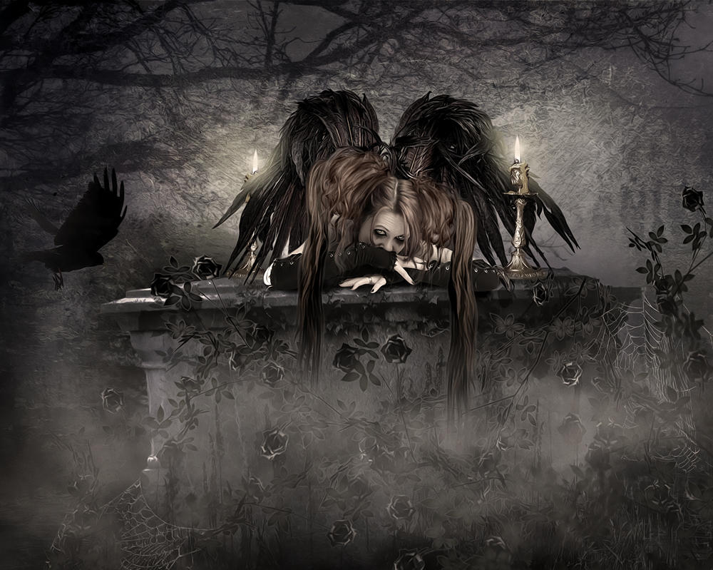 Gothic Angel by KarinClaessonArt