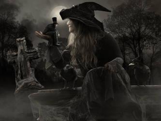 Happy Halloween My Love by KarinClaessonArt