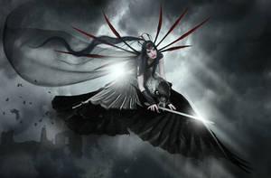 Spirit of The Raven Warrior by KarinClaessonArt
