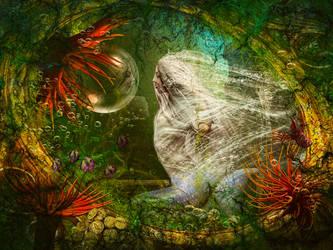 Mermaids boudoir by KarinClaessonArt