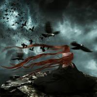 Ravens Violin Serenade by KarinClaessonArt