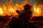 Fire by KarinClaessonArt