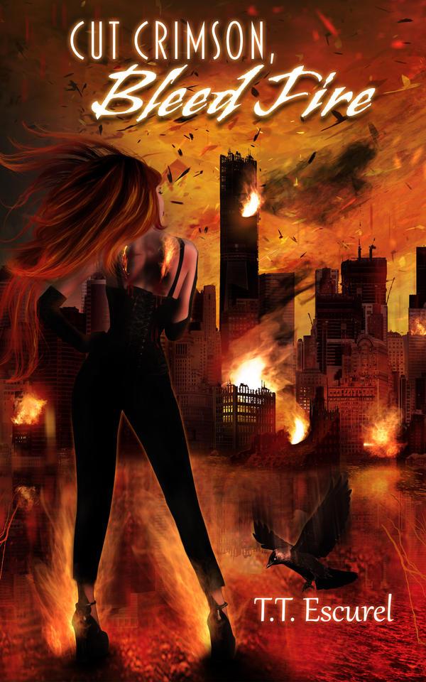 Cut Crimson, Bleed Fire by KarinClaessonArt