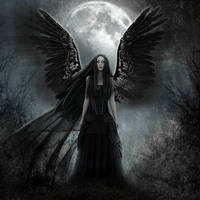 Dark Angel by KarinClaessonArt