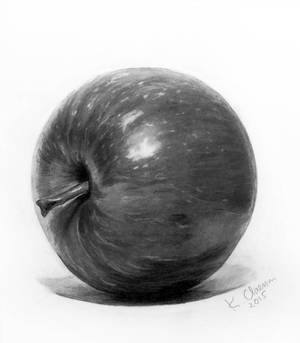 Freehand drawing Apple