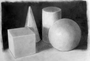 Geometrical Shapes Study by KarinClaessonArt