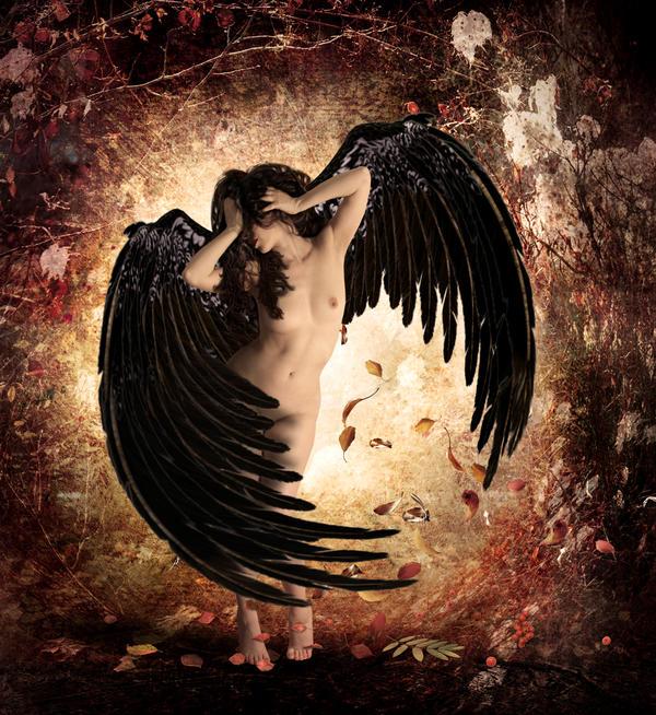 Angel of Raven by KarinClaessonArt