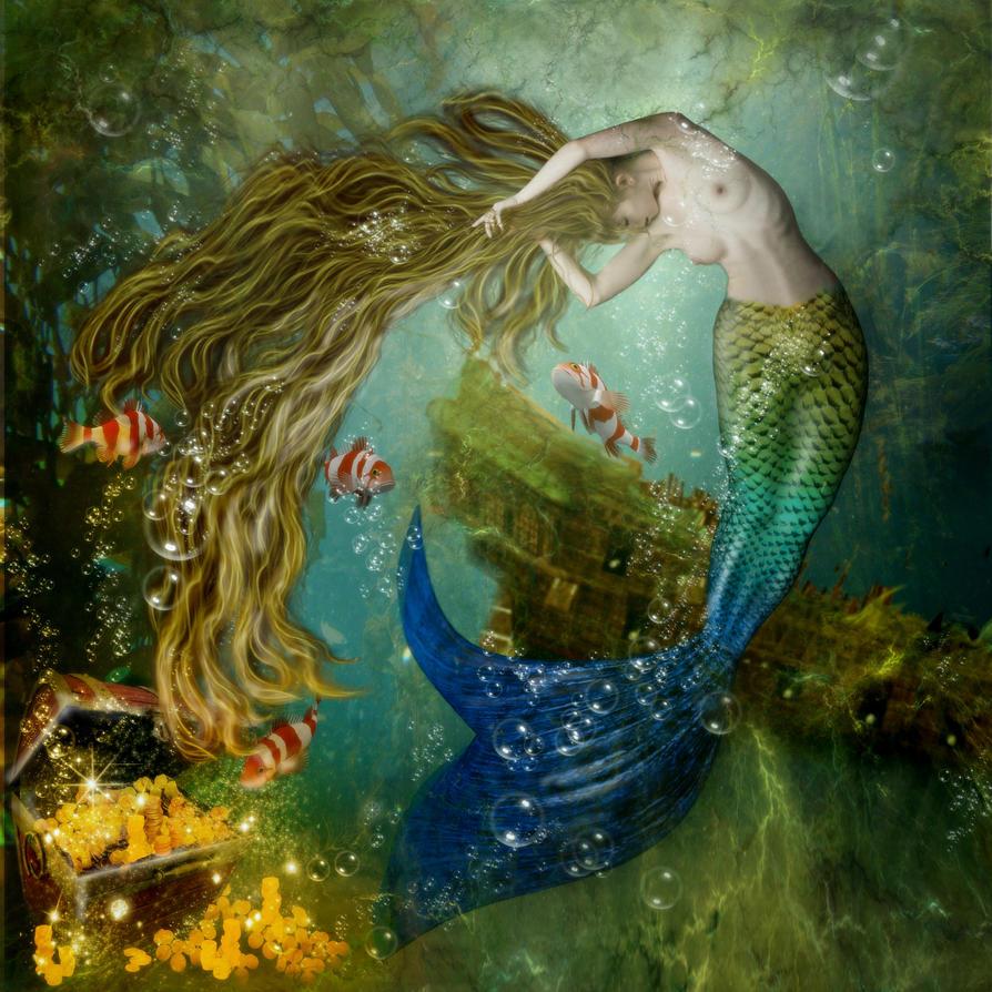 Mermaid by KarinClaessonArt