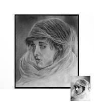 Practice Drawing woman in veil. by KarinClaessonArt