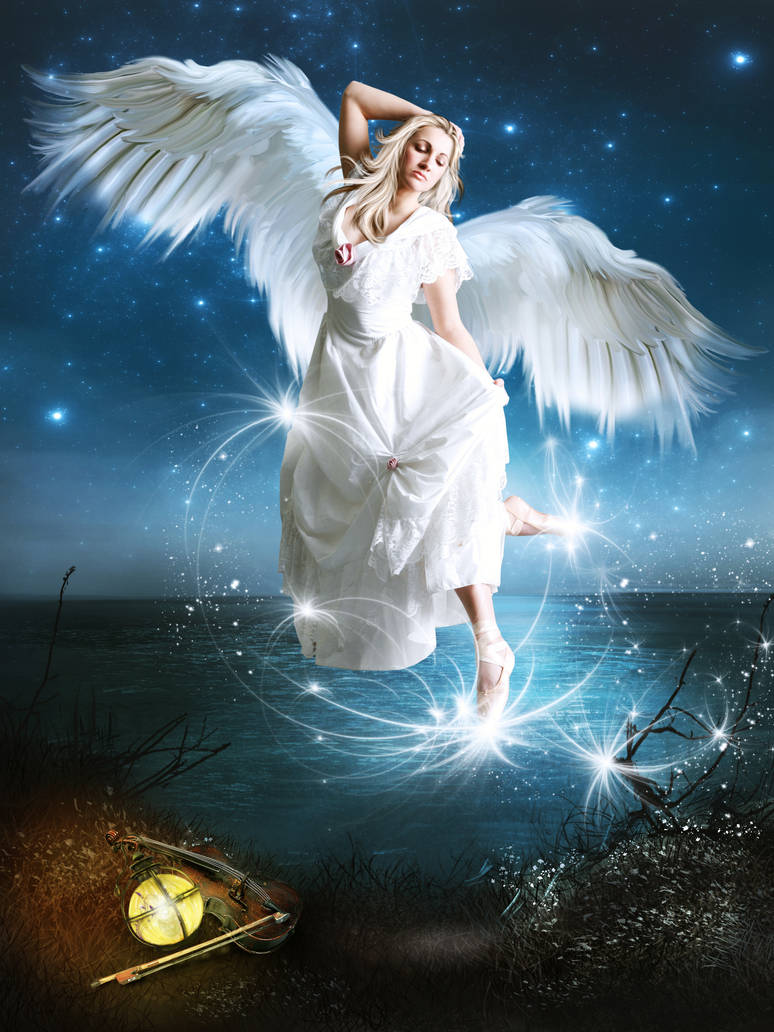 Angel of Music by KarinClaessonArt