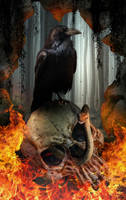 Ravens skull by KarinClaessonArt