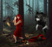 Little Red Riding Hood With a Twist by KarinClaessonArt