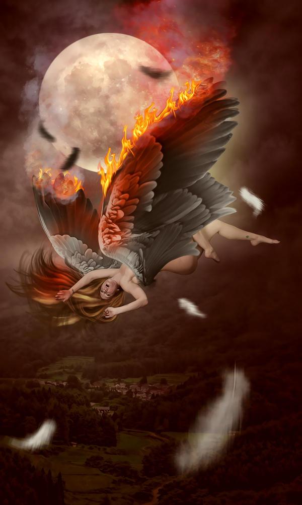 Falling Angel by KarinClaessonArt