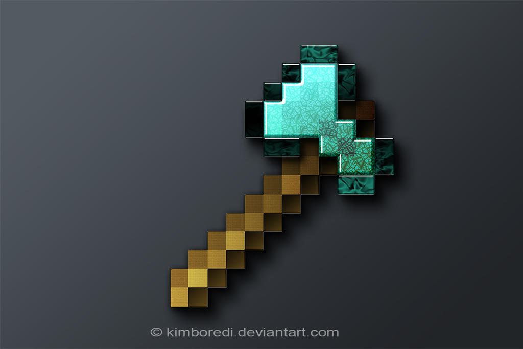 Minecraft diamond axe jewelry - Diamond minecart theme song ...