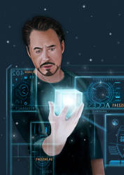 Tony Stark by elontaival