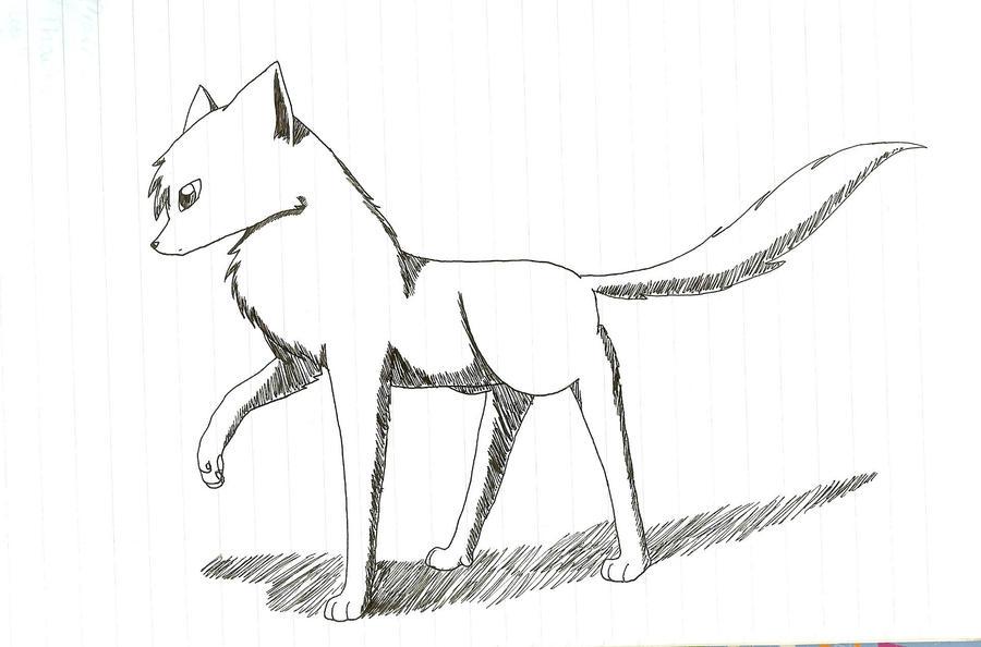 Hand Drawn Wolf by NightMizuKitsune on DeviantArt