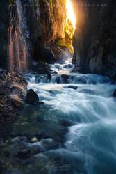 Cascade Avenue - Partnach Gorge, Bavaria by davidrichterphoto