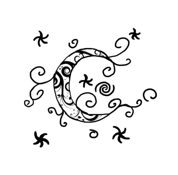 Moon tattoo design by TibbyDarkewulf on DeviantArt