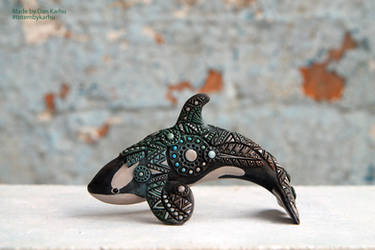 Orca and a bit of geometric ornament