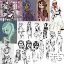 Sketchbook dump by ForeverSoaring