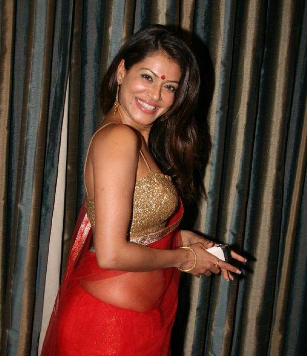 Actress Payal Rohatgi Sexy In In Red Saree By Meghanaraj On Deviantart