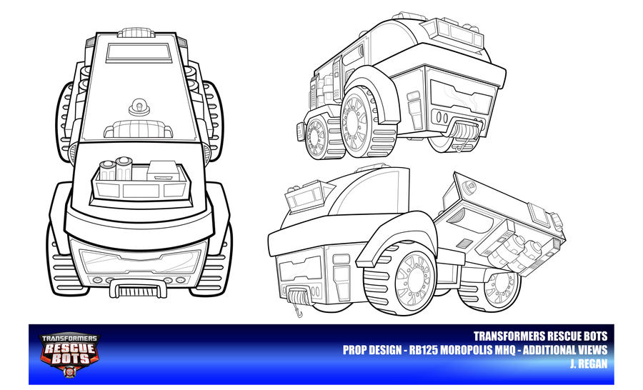 Rescue bots mhq additional views by thegreatjery on for Rescue bots heatwave coloring page
