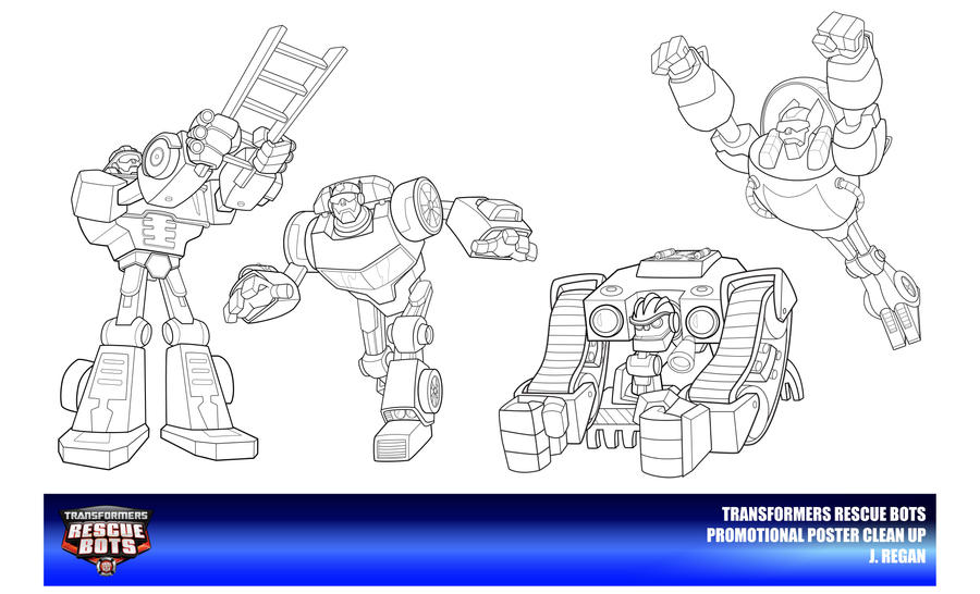rescue bots coloring pages - rescue bots clean up poster models by thegreatjery on