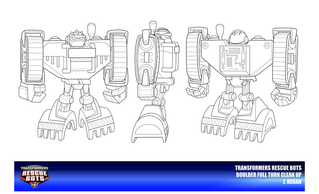 Holiday Coloring Pages Printable Rescue Bots Boulder Clean Up