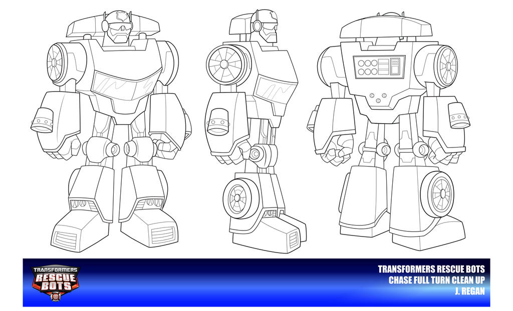 Rescue Bots Chase Clean Up By Thegreatjery On Deviantart Rescue Bot Coloring Pages