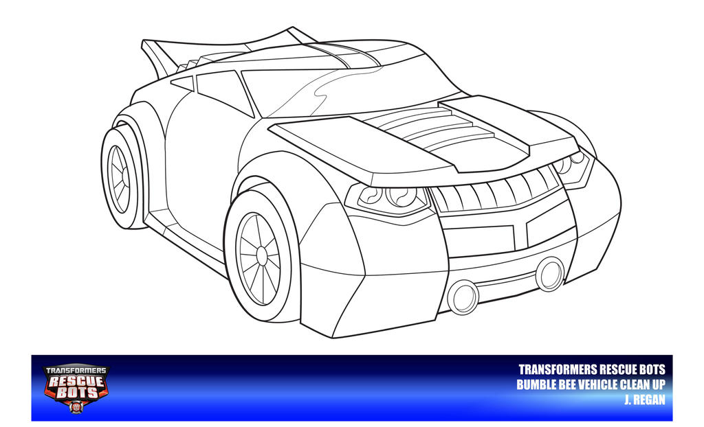 rescue bots coloring pages - rescue bots bumble bee vehicle mode clean up by