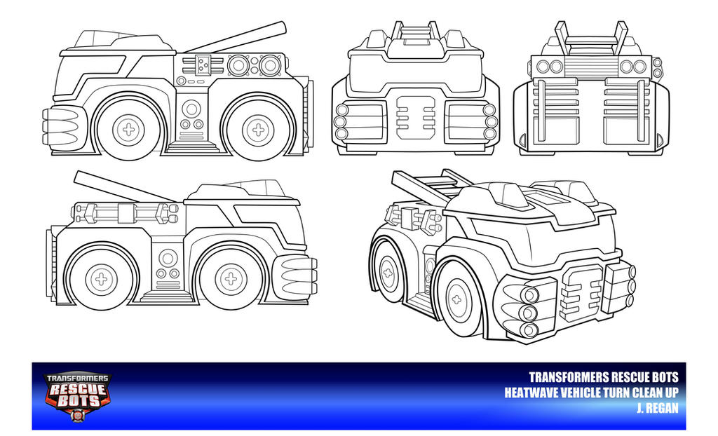 Coloring Book Chance The R Er Clean : Rescue bots coloring page chase heatwave vehicle search