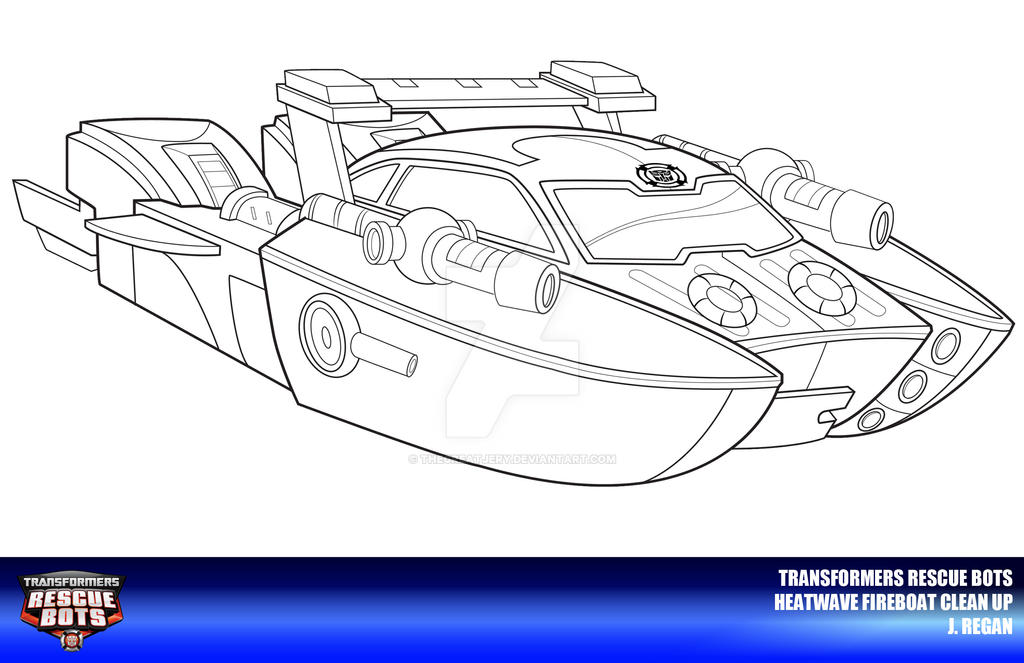 Rescue Bots Heatwave Fireboat Clean Up By Thegreatjery On Deviantart Rescue Bot Coloring Pages