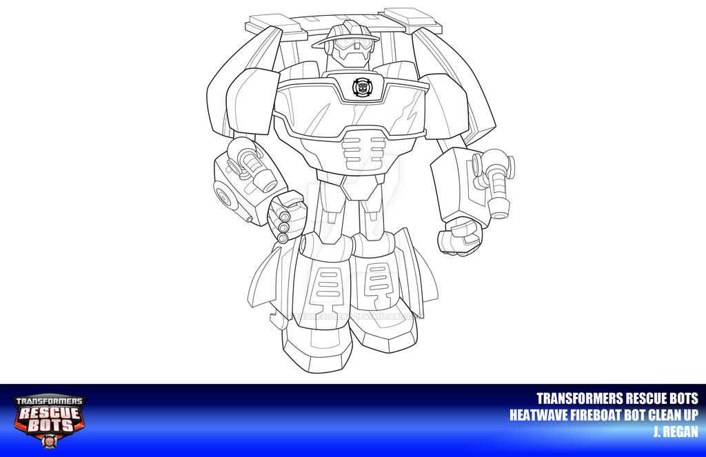 Rescue bots heatwave fireboat bot clean up by thegreatjery for Rescue bots heatwave coloring page