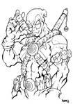 X-Force: Deadpool line art