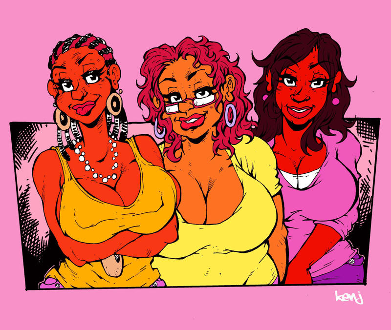 The Blaque Sisters. by Kenji-Seay