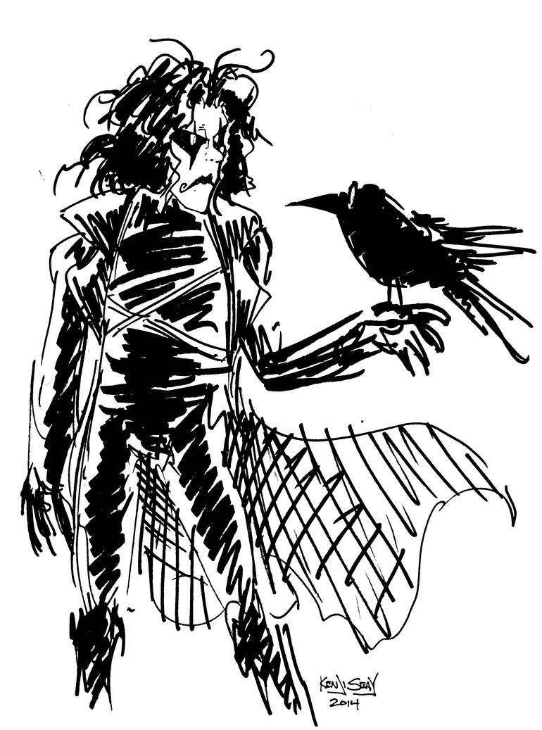 Inktober 4: The Crow. by Kenji-Seay