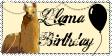 Llama Birthday Stamp by BrennaWerewolf